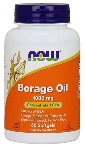 Picture of NOW Foods Borage Oil, 1000mg/120 softgels