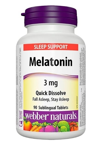 Picture of Webber Naturals Melatonin, 3mg/90 tabs