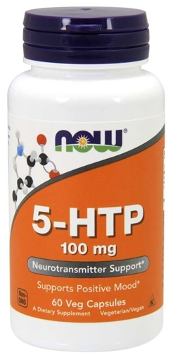 Picture of NOW Foods 5-HTP,  100mg/60 caps