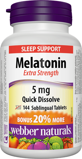 Picture of Webber Naturals Melatonin Extra Strength, 5 mg/144 tabs
