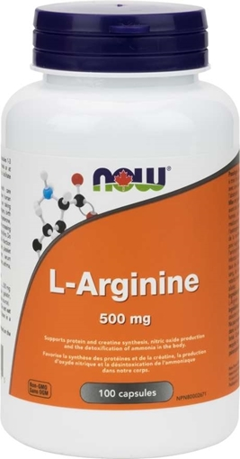 Picture of NOW Foods L-Arginine, 500mg/100 caps