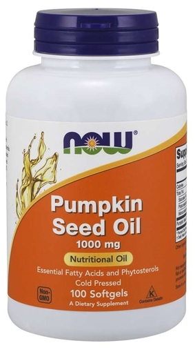 Picture of NOW Foods Pumpkin Oil, 1000mg/100 softgels
