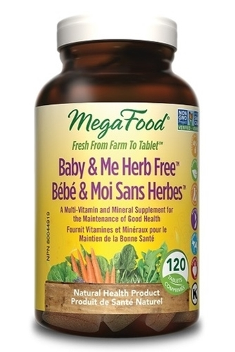 Picture of MegaFood Herb Free Baby & Me, 120 tabs