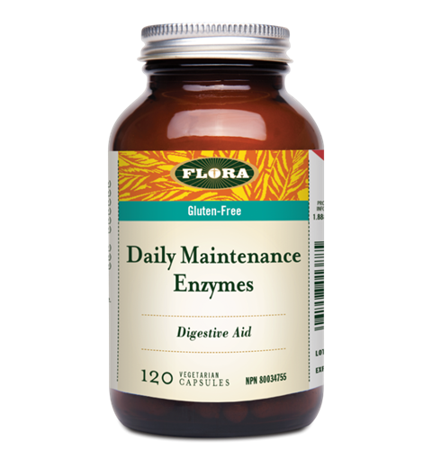 Picture of Flora Daily Maintenance Enzymes, 120 caps