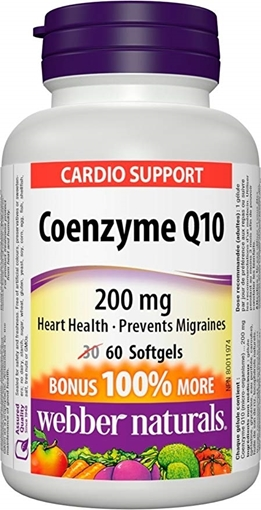 Picture of Webber Naturals Coenzyme Q10, 200mg/60 caps