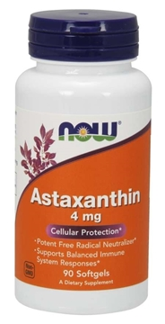 Picture of  Astaxanthin, 4 mg/90 softgels