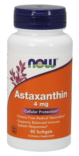 Picture of NOW Foods Astaxanthin, 4 mg/90 softgels
